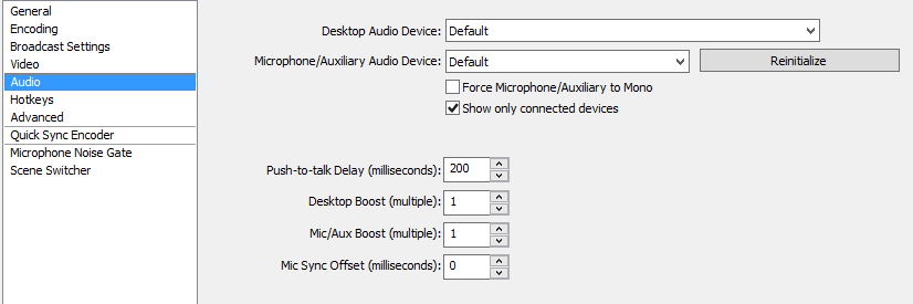 OBS Best audio Settings