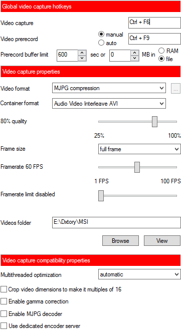MSI Afterburner Best Recording Settings