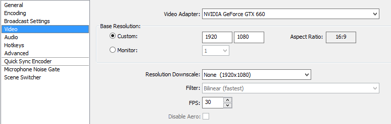 OBS Best video Settings